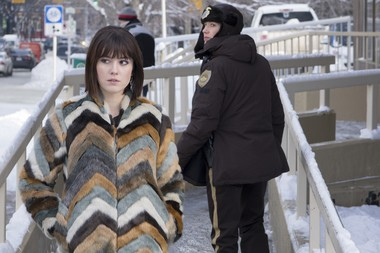 "Mary Elizabeth Winstead as Nikki Swango and Carrie Coon as Gloria Burgle in ""Fargo"" Season 3."