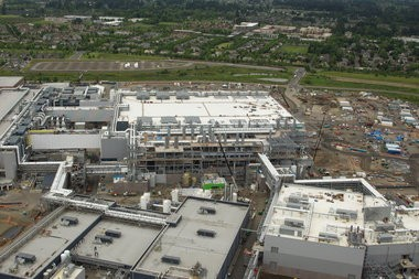 Intel's Washington County footprint, including the D1X fab shown here in June 2012, has saved tens of millions through the state's Strategic Investment Program.