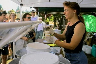 Garlic ice cream is served at the annual Elephant Garlic Festival held in North Plains.