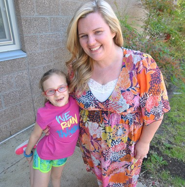 Ella and her mom, DeDe Osborne, have organized the inaugural Vision Fun Run scheduled to take place May 7 at Bonny Slope Elementary School in Beaverton. (Samantha Swindler/Staff)