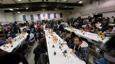 More than 500 people took part in the 2014 Thanksgiving Festival at the Kliever armory in Portland. Fees charged for community events were a key revenue source for armory maintenance statewide.