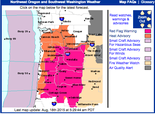 Tuesday's watches and warnings