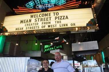 Co-owner Lee Gamble (right) and his cook, Ramiro Tapia, stand inside Mean Street Pizza shortly after it opened in spring 2012. Chael Sonnen, UFC fighter and the other co-owner of the West Linn restaurant, is now suing Gamble.