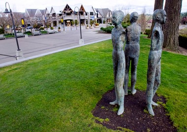 Downtown Lake Oswego successfully redeveloped property at OR 43 and A Street, offering retail, restaurants and parks.