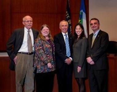 From left to right: Councilor Mike Jones, Councilor Jody Carson, Mayor John Kovash, Councilor Jenni Tan and Councilor Thomas Frank.