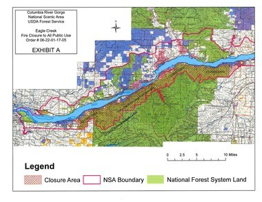 Cascade Locks Fire Map.Fire Crews Say Monday Forecast Helps Eagle Creek Fire Effort I 84