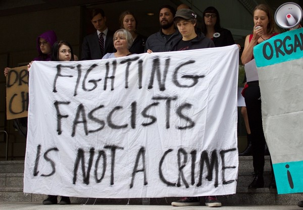 A new anti-fascist group plans a rally Saturday in downtown Portland - part of series scheduled in cities across the country - but the demonstrations have whipped up warnings for months by right-wing groups on social media that the gatherings could be the start of a