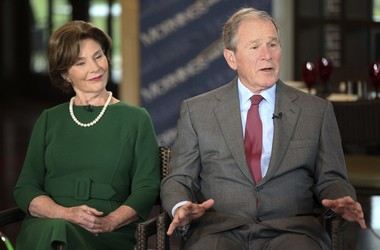 Laura Bush and former President George W. Bush will be honored Nov. 11 at the National Constitution Center in Philadelphia during the Liberty Medal Ceremony.