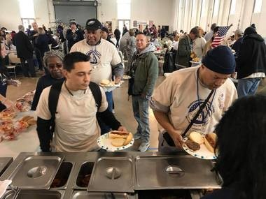 A picture from the most recent Homeless Veterans Stand Down in Harrisburg. Stand Down is open to all homeless and at-risk veterans and provides services such as employment assistance, transportation, advocacy, legal services, hygiene items, showers, haircuts, medical exams, VA benefits and enrollment, and plenty of food to eat.