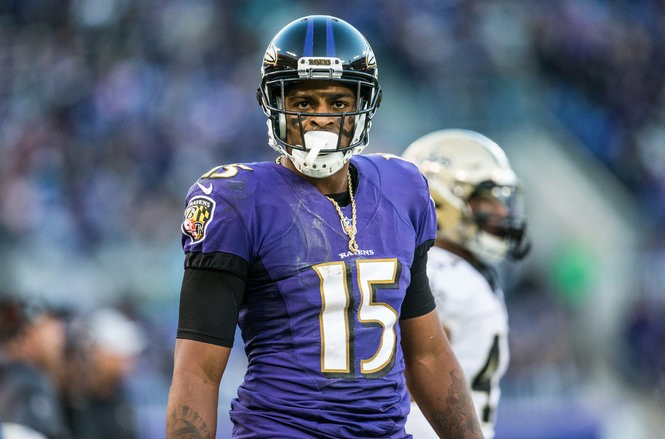7ba8acde Baltimore Ravens receiver Michael Crabtree after a catch against the New  Orleans Saints. (Sean Simmers   ssimmers@pennlive.com)
