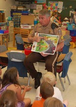 Sgt. Peter Beauduy of the Upper Allen Township Police Department regularly teaches children in Mechanicsburg School District about safety and stranger awareness through the S.M.A.R.T.S (Students Making Appropriate Responses to Tough Situations) program.