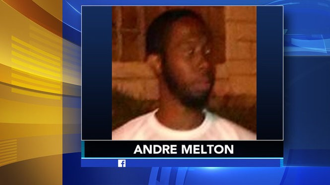 Police say Andre Melton, 31, is wanted for the burglary of designer bags and jewelry from inside the model's apartment last weekend.