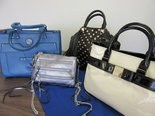 Some of the purses for silent or live bidding at the Pursuit of Justice Purse Auction.