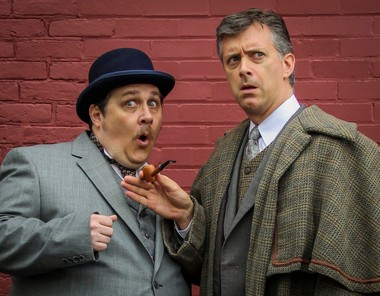 "Jef Canter, left, portrays Dr. John Watson to Michael Frederic's Sherlock Holmes in Gretna Theatre's new production of ""Watson: The Last Great Tale of Sherlock Holmes."""