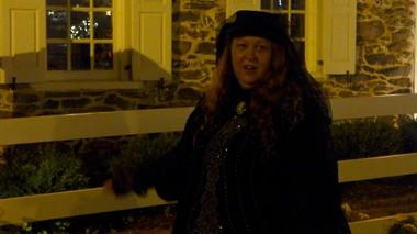 "Johlene ""Spooky"" Riley gives a ghost tour in Gettysburg on June 28, 2013."