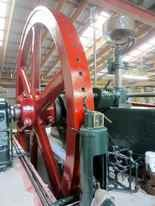 The 22,000 pound flywheel on Rough and Tumble's Cooper engine will be in motion.