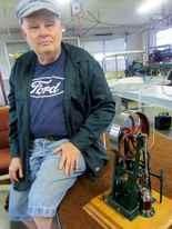 Dan Sadler makes precise models, carved of steel.
