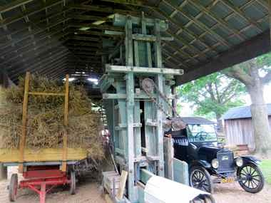 This jump press, an early baler, will be one of the demonstrations.