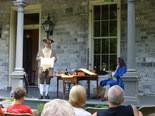 Re-enactor David Biser, as John Harris Jr., reads the Declaration of Independence at John Harris-Simon Cameron Mansion, Harrisburg.