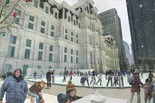 A new skating rink by City Hall offers holiday fun for the agile, and the not so.