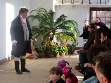 Dr. James Craik, a close friend of George Washington, tells children how people celebrated Christmas at Mt. Vernon in the 18th century. There were far fewer presents.