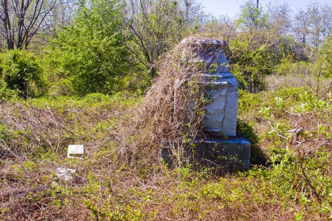 Mount Moriah Cemetery's overgrown graveyard makes for a very creepy visiting experience.