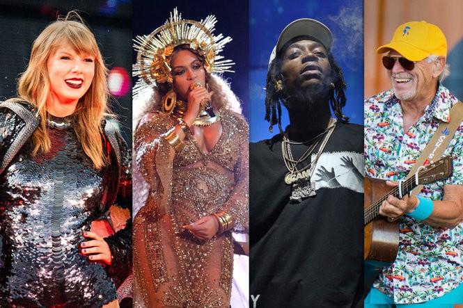 Taylor Swift, Beyonce, Wiz Khalifa, Jimmy Buffett and more: 63