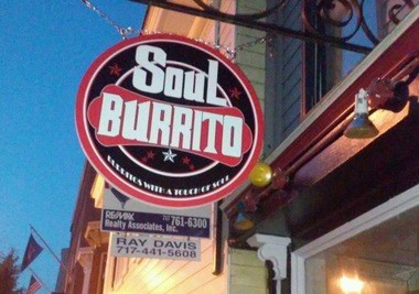 Soul Burrito has erected a sign outside of its new restaurant in Harrisburg.