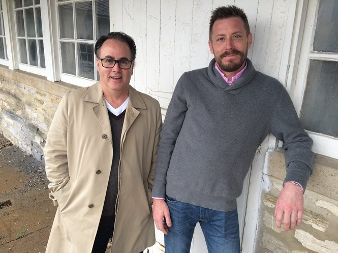 Englewood Barn's Director of Operations, Tom Scott, and Rubber Soul Brewing Co. co-founder Jesse Prall. The barn is expected to open before summer 2019 and will include a live music venue, restaurant and brewery.