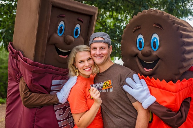 Jenny Ries and Craig Hirschey of St. Louis Park, Minnesota spent time in Hershey doing a photo shoot in celebration of their engagement.