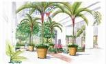 This artist's rendering shows what the entry pavilion to the Hershey Gardens conservatory will look like.