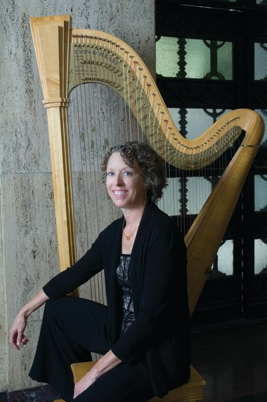 "Harpist Rebecca Kauffman will be featured in the Harrisburg Symphony Orchestra's ""Tantalizing Tales"" concert."