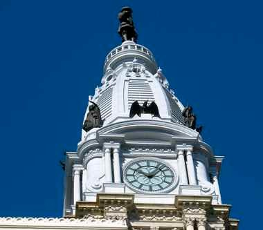 City Hall has the only publicly accessible observation deck in Philadelphia, 500 feet up.