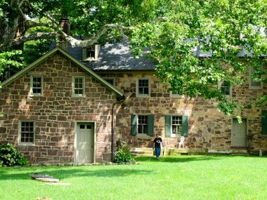 The Speedwell Forge B&B on the sanctuary grounds is a restored brownstone mansion