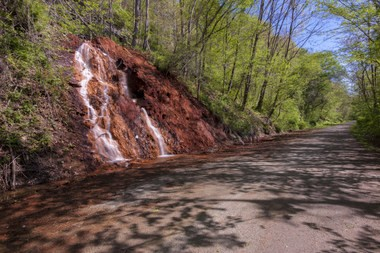 One of the many waterfalls along the Great Allegheny Passage.