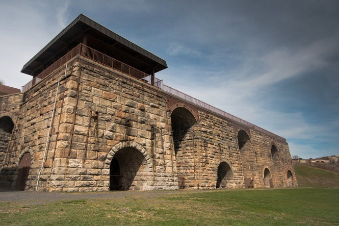 The Scranton Iron Furnaces showcase the history of the region's iron industry.