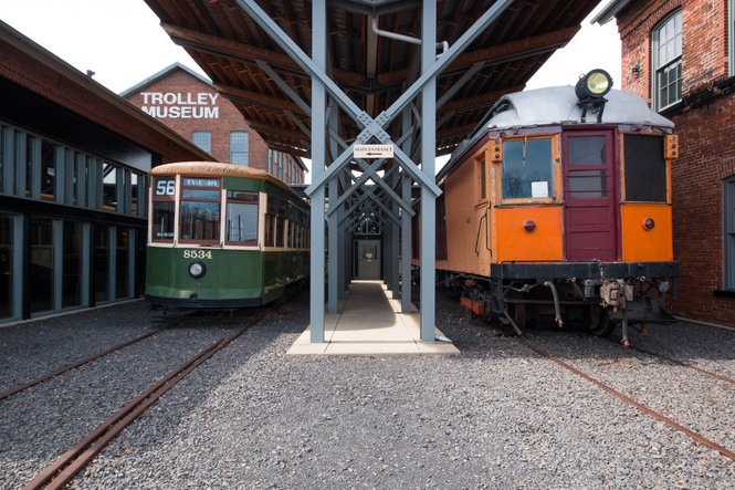 Visitors can learn about Scranton's transportation history and ride a historic trolley at the Electric City Trolley Museum.