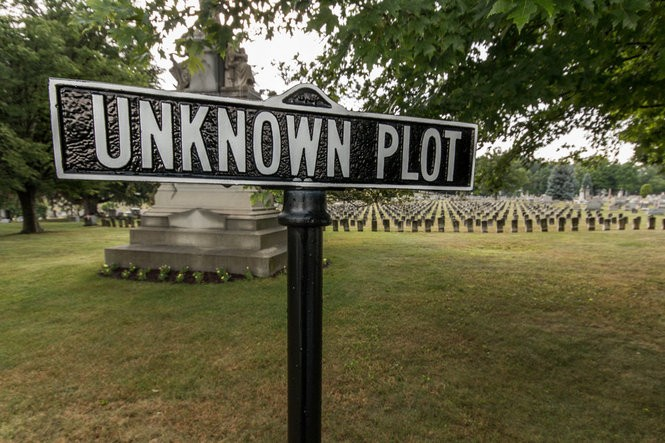 The Unknown Plot where those who died in the flood are buried.
