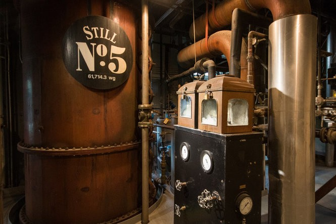 Touring the distillery offers a behind the scenes look at how their whiskey is made.