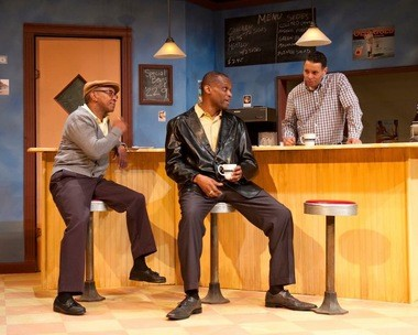 """From left, Ronnie Banks, Daniel Fordham and Aaron Bomar in """"Two Trains Running"""" at Open Stage of Harrisburg. (Provided photo)"""