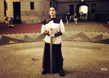 """Katie Amtower, 17, of Boiling Springs, PA dressed as Maria Thorpe from """"Assassin's Creed."""""""