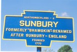 Present day Sunbury marker.