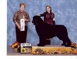 Alexis Ditlow of Enola showing Ares, the Newfoundland owned by her mom, Lynne Hamilton of Enola.