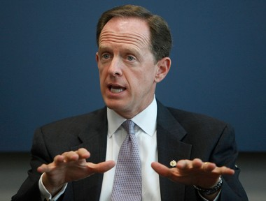 Pat Toomey is one of two senators working on an agreement that would expand background checks on purchasers of firearms. MARK PYNES, pennlive.com