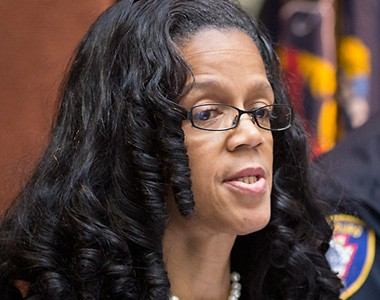 Harrisburg Mayor Linda Thompson at a press conference March 21, 2013.