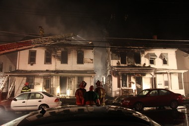 Firefighters worked diligently overnight Thursday to ensure the fire was entirely extinguished.