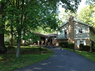 A small chlorine explosion occurred Sunday on Ridge Road in Rye Township.