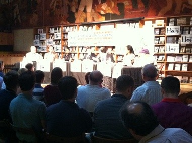 """Panelists participate in the """"Advancing Toward Equality"""" forum hosted by Harrisburg Hope, the Capital Region Stonewall Democrats and the LGBT Center of Central PA and held Monday at the Midtown Scholar Bookstore."""
