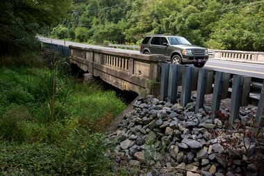 This bridge on U.S. Route 11 that crosses over the Alexander Spring Creek, west of Carlisle, will soon have a weight restriction placed on it.