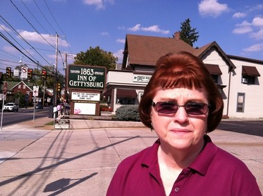 Norma Herring, manager of Gettysburg 1863 Inn, is concerned about the impact the continued shutdown will have on her business and the town.